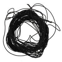 2X(SODIAL (R) Ein Buendel schwarze elastische Kordel & Gummiband  J4B6)