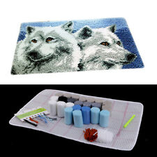 1 Set Latch Kit with Basic Tools Handmade Carpet Rug Embroidery Package Wolf