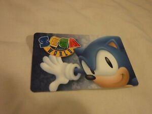 sydney sega world swipe access card (sonic)