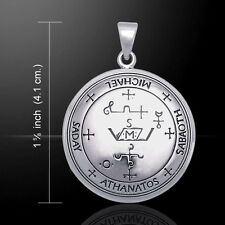 Sigil of Archangel Michael .925 Sterling Silver Pendant by Peter Stone Jewelry