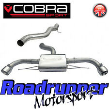 "Cobra Audi TT MK2 3.2 V6 Cat Back Exhaust System Stainless Non Resonated 3"" AU60"