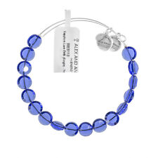 Alex and Ani Sapphire Luxe Bead Silver Bangle BBEB113S - RRP £33