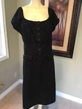 Newport News Women's Black Cotton Size 18 Dress
