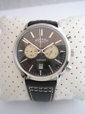 ROTARY AVENGER WATCH GS02730/04 MENS STAINLESS STEEL CHRONOGRAPH GENUINE