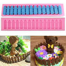 Garden Wooden Fence Silicone Fondant Cake Mold Chocolate Molds Cooking Tools