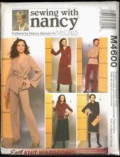 UNC Talla 8 – 22 Chaqueta de punto fácil Armario Vestido mccalls 4600 patrón Plus Nancy