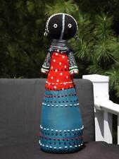 "South Africa Ndebele Beaded Doll 16"" EXC Poka Dot Shirt"