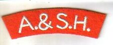 ARGYLL & SUTHERLAND HIGHLANDERS (A&SH)  shoulder title