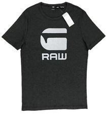 Men's G-STAR / G RAW Gray Logo Crew Neck T-Shirt Tee Shirt XL X-Large NWT NEW
