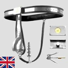 Full Male Chastity Belt Device Stainless Steel solid Cage/back chain 65-100cm