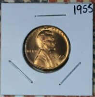 1955 LINCOLN WHEAT CENT COLLECTOR COIN FREE SHIPPING