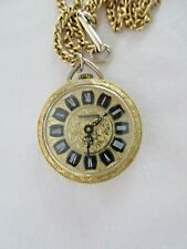 NECKLACE WATCH TRADITION GOLD PLATED WINDING WATCH WORKING SWISS MADE