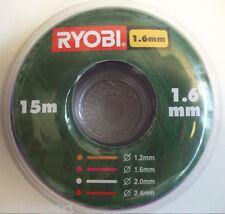 Schneidfaden Ersatzfaden 1,6 mm 15 m RAC101, für Ryobi, Homelite und andere.