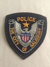 VINTAGE THE CITY Of SALISBURY NORTH CA POLICE PATCH (CHEESE CLOTH BACK) NICE!!!