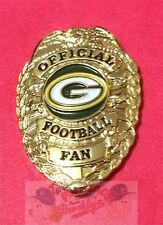 GREEN BAY PACKERS *OFFICIAL FOOTBALL FAN* BADGE PIN