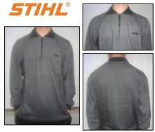 Felpa zip motosega sweatshirt woodman motorsage STIHL TIMBERSPORTS grigio grau S