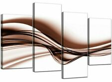 Canvas Brown Abstract Art Prints