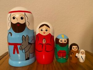 Russian Nesting Dolls Nativity Set! Beautiful set for Gift/ Decor