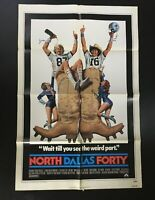 "1979 North Dallas Forty 41"" x 27"" Original Movie Poster Nick Nolte, Mac Davis"