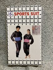 NEW In BOX Sweat Sauna Suit, Silver, Size: XL, Unisex