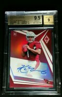 BGS 9.5/9 POP 2 KYLER MURRAY RC AUTO PINK HOLO /25 TRUE ROOKIE #101 2019 Phoenix