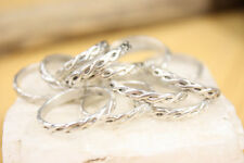 Sterling Silver stackable handmade Celtic Knot ring band 925 Ring Size 6 Wedding