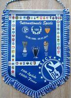 FC Schalke 04 + Riesen Wimpel + Banner + 36x28 cm + SFCV + 100 Internat. Spiele