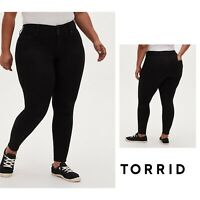NEW TORRID Denim Jegging Black Stretch High Rise Super Skinny Plus Size 26
