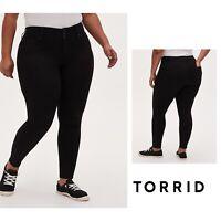 NEW TORRID Denim Jegging Black Stretch High Rise Super Skinny Plus Size 26