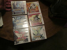 LOT 6 NINTENDO 3DS POKEMON MOON & SUN + X & Y + ALPHA SAPPHIRE & OMEGA RUBY SET