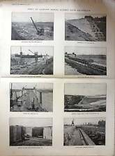 1921 Port Of London Royal Albert Dock Extension Progress Of Works Photos