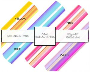 Color Changing Opal Craft Vinyl Holographic Decal Laptop Cups FREE SHIPPING 20+