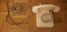 altes Bakelit Telefon Elfenbein Post mit Wählscheibe, Sehr guter Zustand
