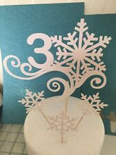 Frozen Snowflake Cake Topper Any Age Cake DecoraTion Glitter Personal Topper
