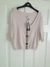 Cotton Blend 3/4 Sleeve Cardigans Cropped Jumpers & Cardigans for Women