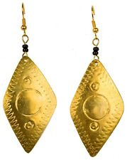 Trade Crossroads Send Girls to School! Kenyan Recycled Brass Can Earrings Fair
