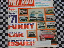 rare revue HOT ROD MAGAZINE 1971 / DRAGSTER FUNNY CARS / MERCURY COMET