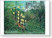 HERMITAGE MUSEUM Henri Rousseau. In a Tropical Forest. Fine Art Print NEW