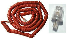 """25 Ft. Red Coiled Telephone Cord With Untangler """" Brand New & Sealed """""""