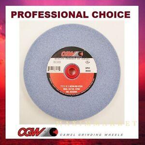 7 X 1 X 1 Grinding Wheel, Premium Blue Aluminum Oxide for High Speed Steel