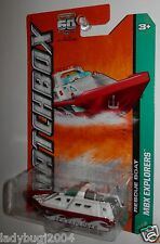 Matchbox 2013 RESCUE BOAT #109 Red & White - Metal Base - Last One - SHIPS FREE