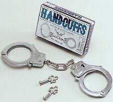 MANETTE METALLO POLIZIA FANCY DRESS Hen Stag PARTY FETISH Boxed 2 CHIAVI..
