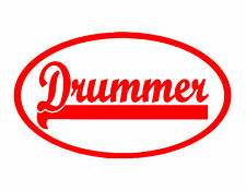 Drummer Vinyl Decal Red 4X8 Drums Cymbal Percussion