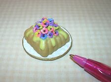 Miniature Bette Accola Pansy Bundt Cake w/Lemon Icing: DOLLHOUSE Bakery 1/12