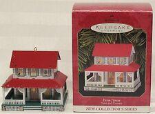 Hallmark Keepsake Ornament NIB Farm House Town and Country 1999
