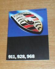 Porsche Range Brochure 1993-1994 911 993 Speedster 964 Turbo 3.6 968 928 GTS
