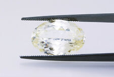 Very Rare Opportunity: Large 12.83ct Powellite; GIA. Clean & Transparent. Ex Cut