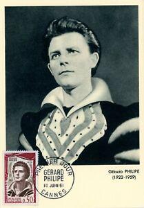 GERARD PHILIPE CARTE MAXIMUM AGNES VARDA Card PHOTO PREMIER JOUR D'EMISSION FDC