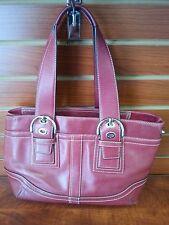Vintage Red Leather COACH Medium Shoulder Bag  F10911