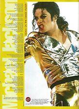 MICHAEL JACKSON Blood On Dance Floor lyrics magazine PHOTO/Clipping 11x8 inches